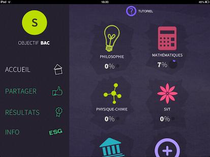Capture d'écran Objectif BAC S 2016 Android