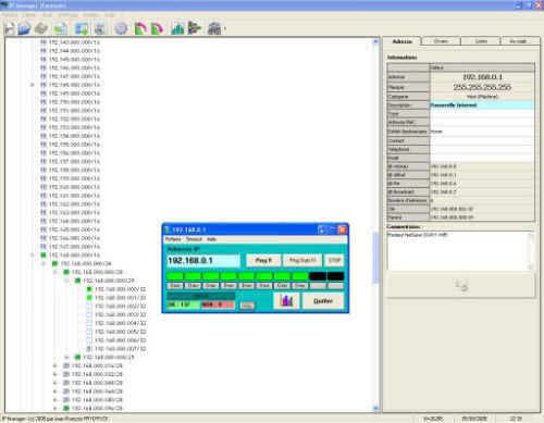 Capture d'écran IP Manager