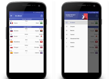 Capture d'écran Handball Coupe du Monde 2017 Android