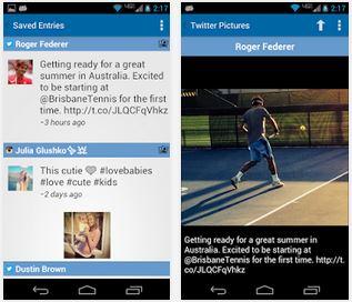 Capture d'écran Tennis Social iOS
