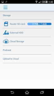 Capture d'écran D-Link Portable Media Center