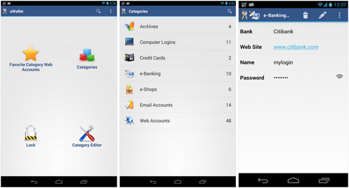 Capture d'écran Wallet App Android