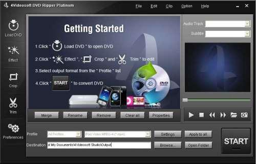 Capture d'écran 4Videosoft DVD Ripper Platinum