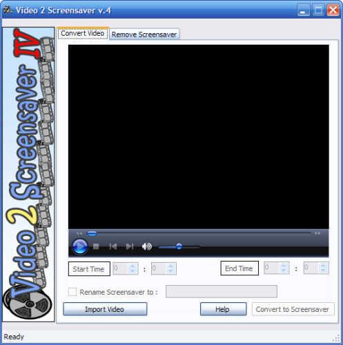 Capture d'écran free Video 2 Screensaver
