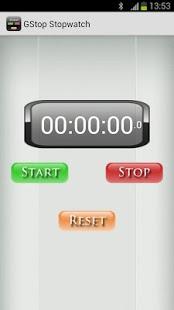 Capture d'écran GStop Stopwatch – Chronometer