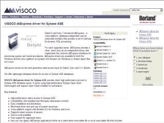 Capture d'écran VISOCO dbExpress driver for Sybase ASE
