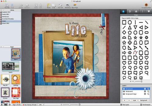 Capture d'écran iScrapbook Mac