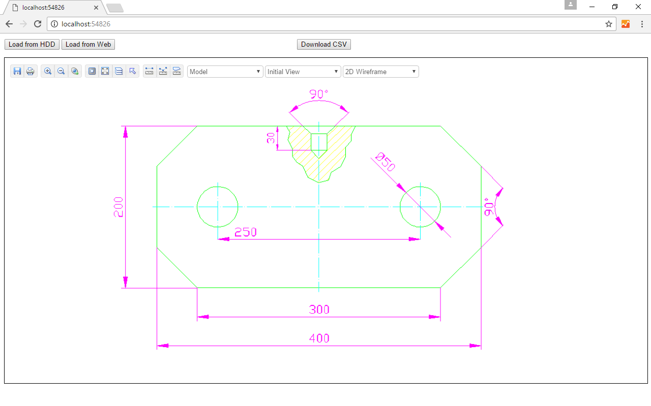 Capture d'écran Web CAD SDK