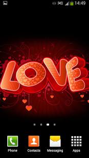 Capture d'écran Coeurs Fond d'écran Animé