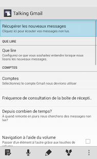 Capture d'écran Talking Gmail Reader