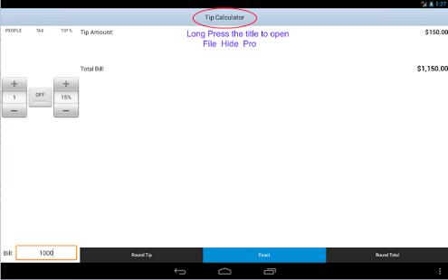 Capture d'écran File Hide Pro