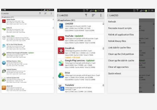 Capture d'écran Link2SD Android