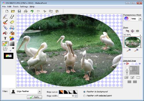 Capture d'écran HeliosPaint Linux
