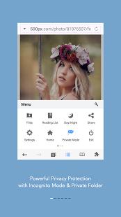 Capture d'écran Mercury – Browser for Android