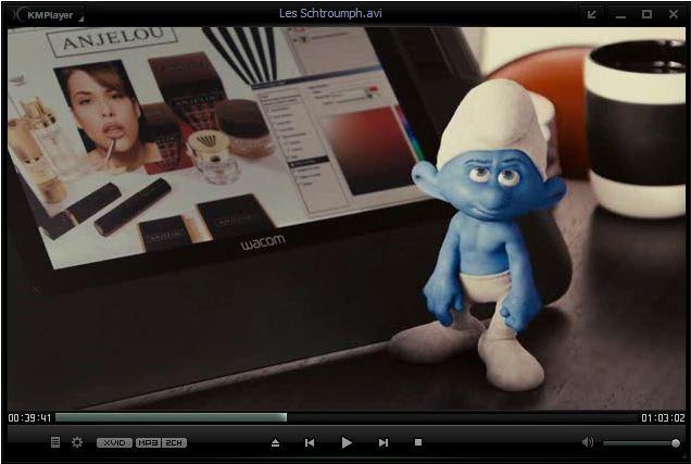 Capture d'écran KMPlayer