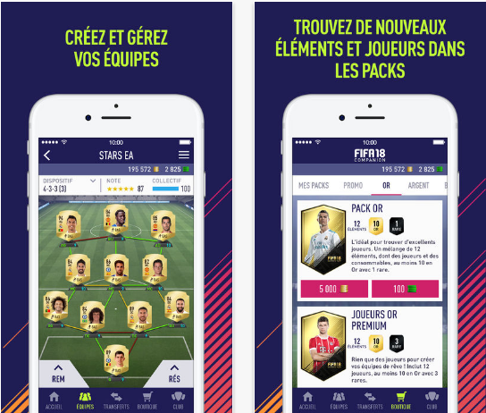 Capture d'écran FIFA 18 Companion iOS
