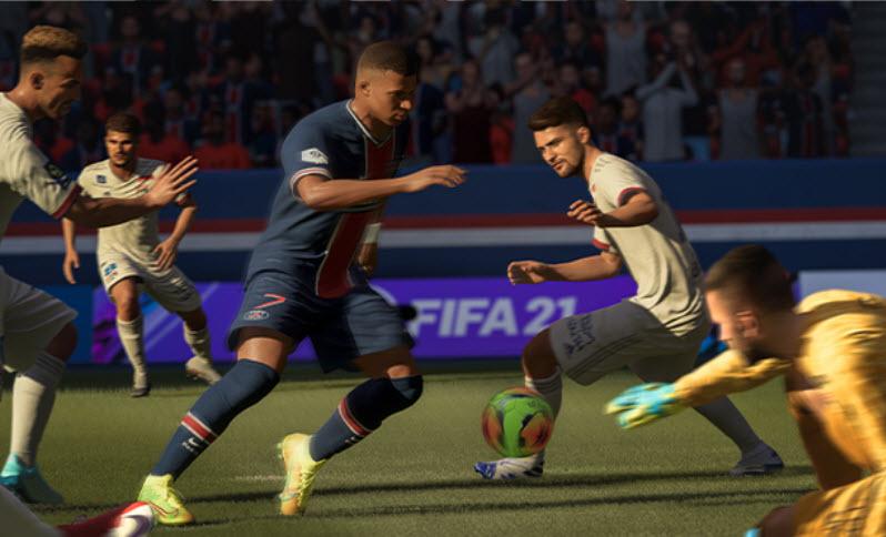 Capture d'écran FIFA 21