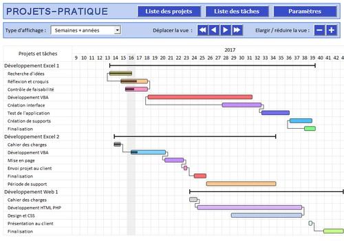 Capture d'écran Projets-Pratique (gestion de projets)