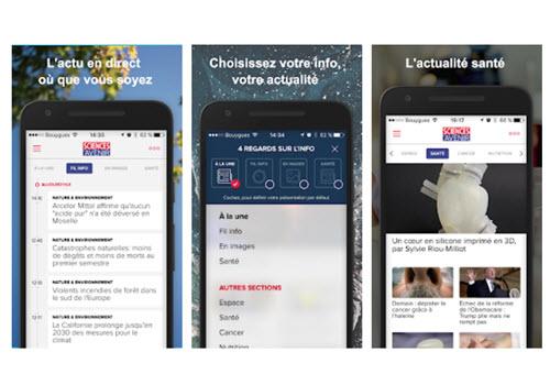 Capture d'écran Sciences et Avenir iOS