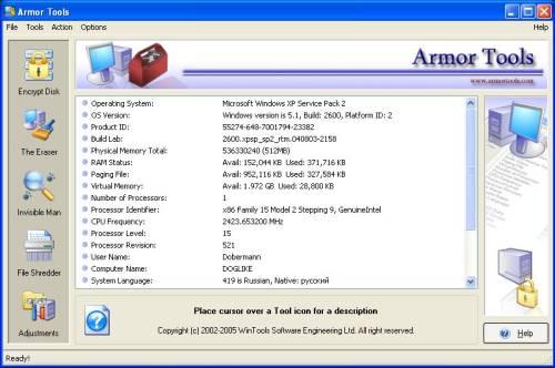 Capture d'écran Armor Tools
