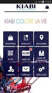 Capture d'écran KIABI la mode à petits prix