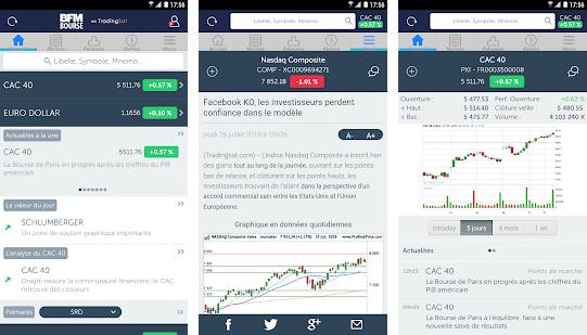 Capture d'écran BFM Bourse Android