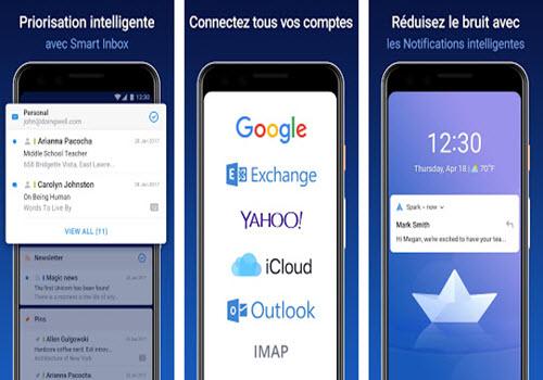 Capture d'écran Spark Android