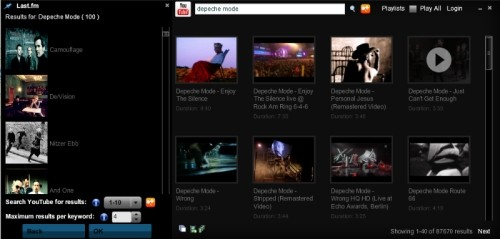 Capture d'écran Livetube Player