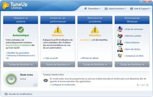 Capture d'écran TuneUp Utilities 2010