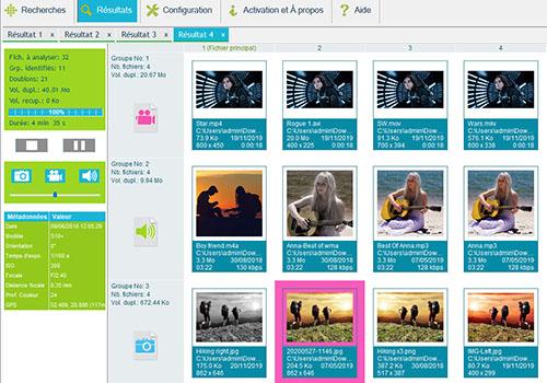 Capture d'écran Duplicate Media Finder