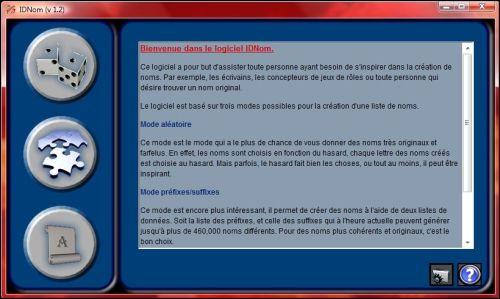 Capture d'écran IDNom II