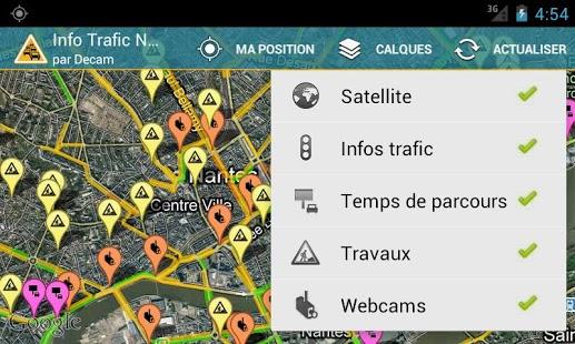 Capture d'écran Info Trafic Nantes