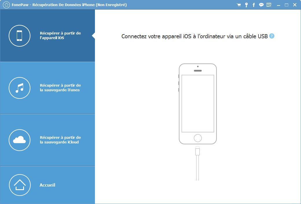 Capture d'écran FonePaw – Sauvegarde & Restauration De Données iOS pour Mac
