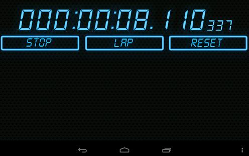 Capture d'écran High-Resolution Timers