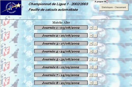 Capture d'écran Championnat 2002-2003