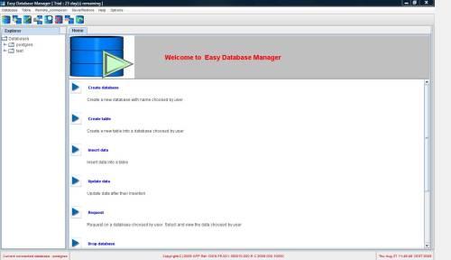 Capture d'écran Easy Database Manager Mac