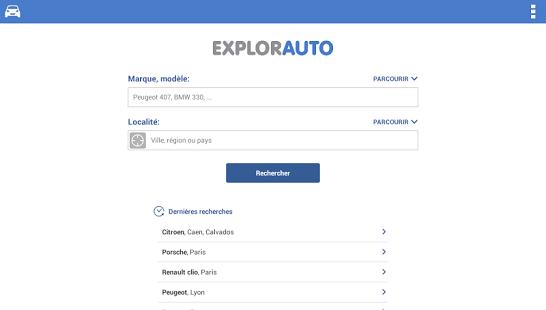 Capture d'écran Recherche et achat de voiture