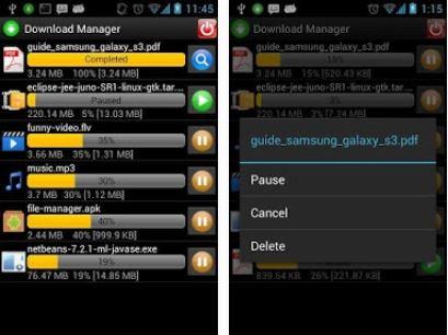 Capture d'écran Download Manager Android