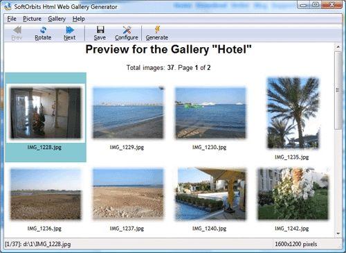 Capture d'écran Image to HTML Converter