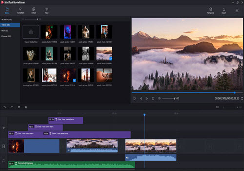 Capture d'écran MiniTool MovieMaker Free