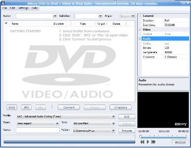 Capture d'écran 4Movy DVD to iPod + Video to iPod Suite