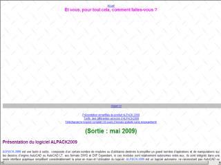 Capture d'écran ALPACK 2001