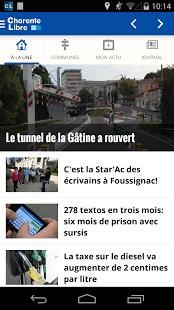 Capture d'écran Charente Libre Android