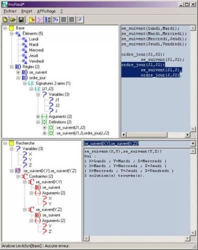 Capture d'écran ProFond Linux