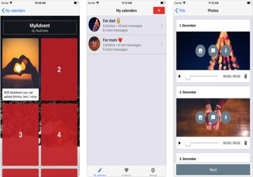 Capture d'écran MyAdvent – Calendrier de l'avent 2018 iOS