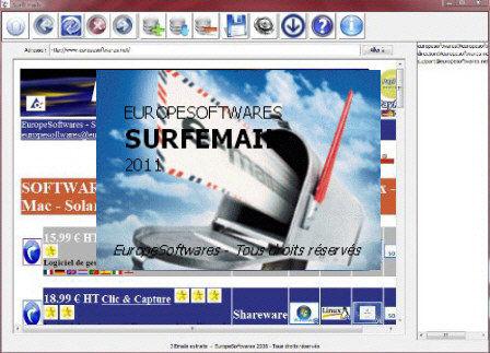 Capture d'écran SurfEmail