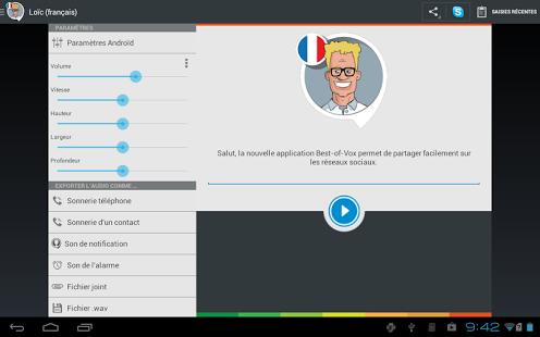 Capture d'écran Voix Loïc (français)