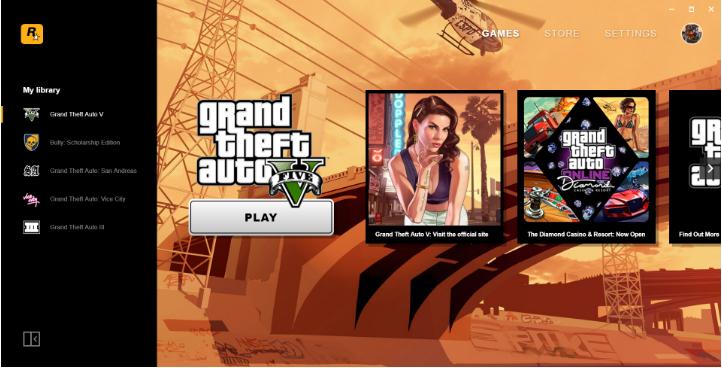Capture d'écran Rockstar Game Launcher