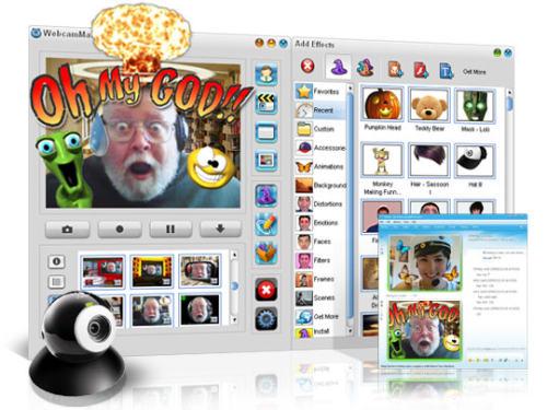 Capture d'écran WebcamMax 7