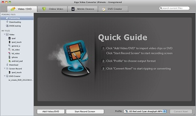 Capture d'écran Kigo Video Converter Ultimate for Mac